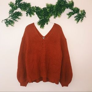 Charlotte Russe Rust Sweater sz L